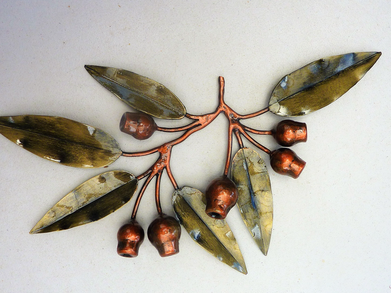 (CreativeWork) Marri branch - 6 leaf  wallhanging by Wayne Jeffery. Other Media. Shop online at Bluethumb.