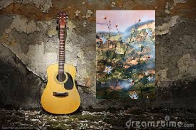 (CreativeWork) From Rock To Rock I Went - William Wordsworth by Louise Croese. Mixed Media. Shop online at Bluethumb.