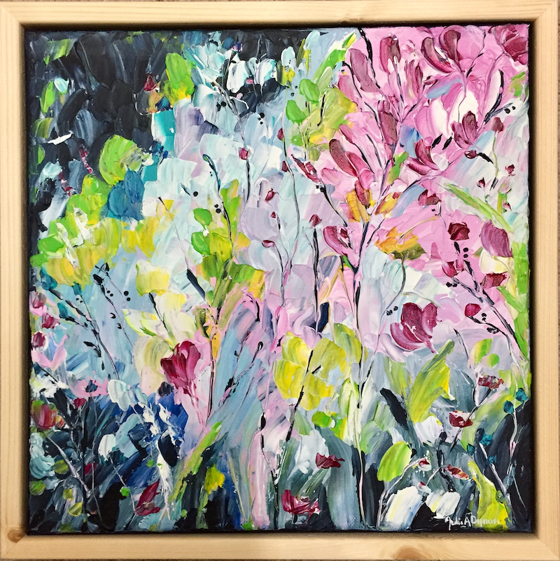 (CreativeWork) Joy ... framed by Julie Dynan. Acrylic Paint. Shop online at Bluethumb.
