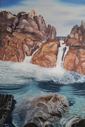 (CreativeWork) Natural Spa, Wyadup by Stacy Gardoll. Oil Paint. Shop online at Bluethumb.