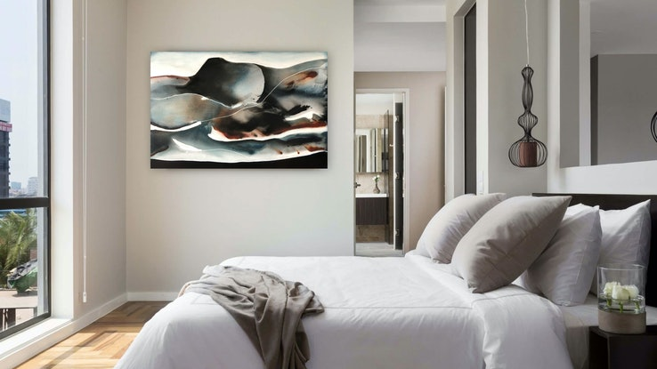 (CreativeWork) Halcyon Nights by Dinah Wakefield. Acrylic Paint. Shop online at Bluethumb.