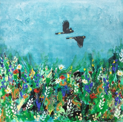 (CreativeWork) Where it all began by Emma Wreyford. Acrylic Paint. Shop online at Bluethumb.