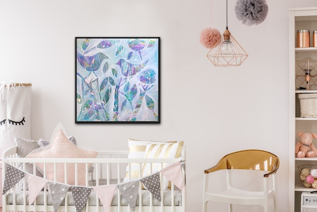 (CreativeWork) Lollypop Feathers.  by Meg Lewer. Other Media. Shop online at Bluethumb.