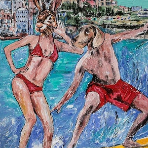 (CreativeWork) They surfed the world but were always at home in Bondi by Gillie and Marc Schattner. print. Shop online at Bluethumb.