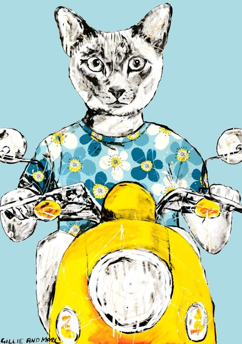 (CreativeWork) He thought I am one cool cat by Gillie and Marc Schattner. Print. Shop online at Bluethumb.