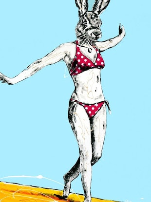 (CreativeWork) She surfed Bondi only when it was big by Gillie and Marc Schattner. Print. Shop online at Bluethumb.