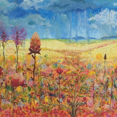 (CreativeWork) After the Rains by Anna Casey. Acrylic Paint. Shop online at Bluethumb.
