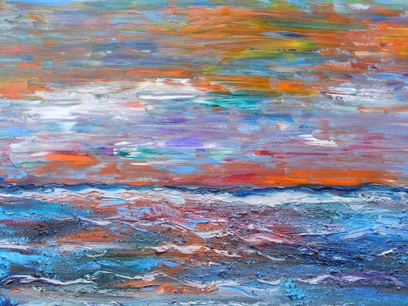 (CreativeWork) Unprecedented Sea by Alice Cherry. Oil Paint. Shop online at Bluethumb.