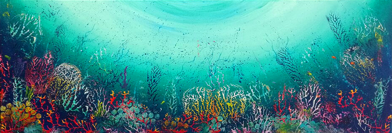 (CreativeWork) On The Reef by Rhonda Armistead. Oil Paint. Shop online at Bluethumb.