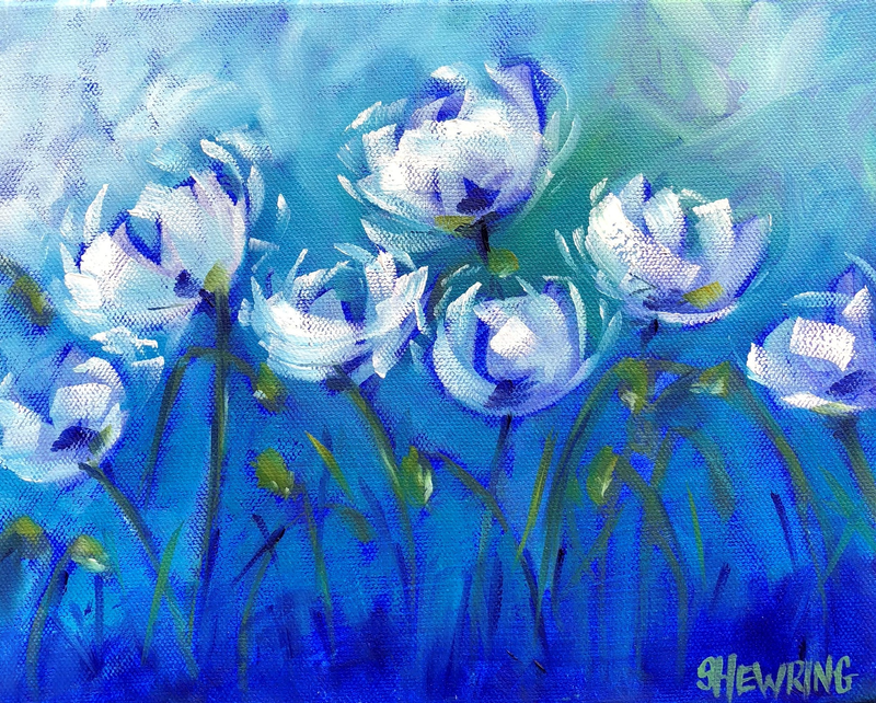 (CreativeWork) Oscillate - Flowers Series by Jen Shewring. Oil Paint. Shop online at Bluethumb.