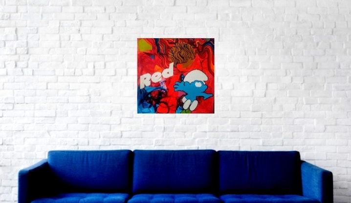 (CreativeWork) Red by Jessica Gordon. Acrylic Paint. Shop online at Bluethumb.