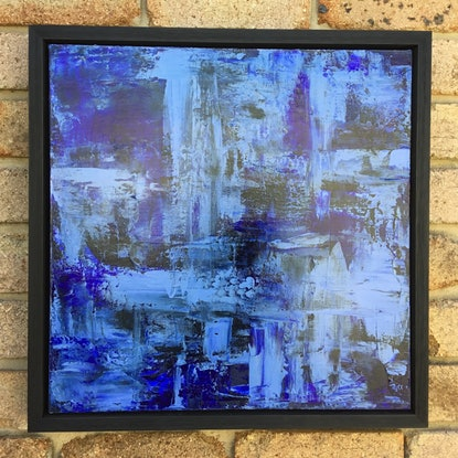 (CreativeWork) Moody Blue  by Donna Louise Fletcher. Acrylic Paint. Shop online at Bluethumb.
