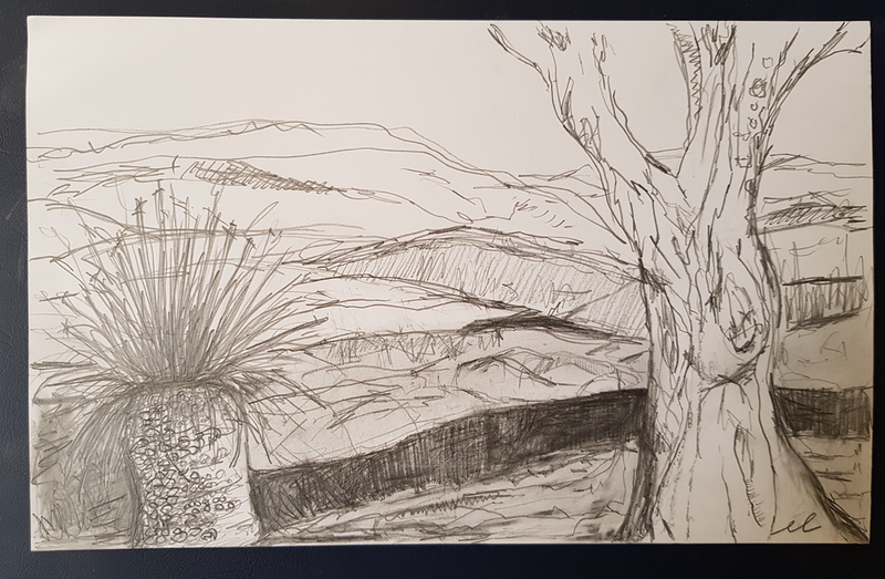 (CreativeWork) Landscape Study Number 2  by Emma Leggett. Drawings. Shop online at Bluethumb.