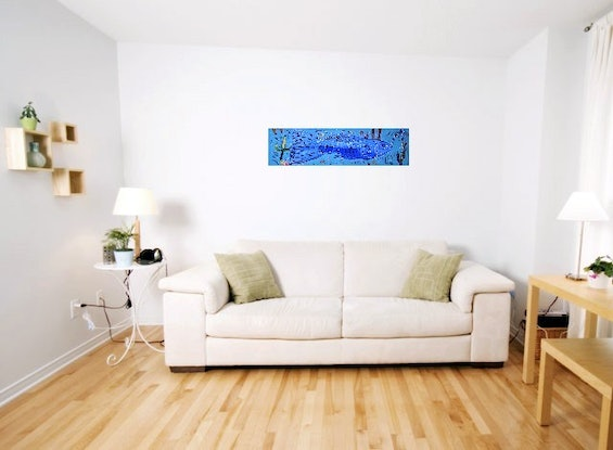 (CreativeWork) Guppies  by Camilo Esparza. Oil Paint. Shop online at Bluethumb.