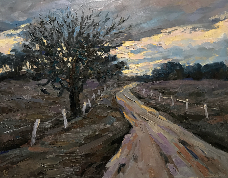 (CreativeWork) Winter morning at Megalong Valley by Fangmin Wu. Oil Paint. Shop online at Bluethumb.