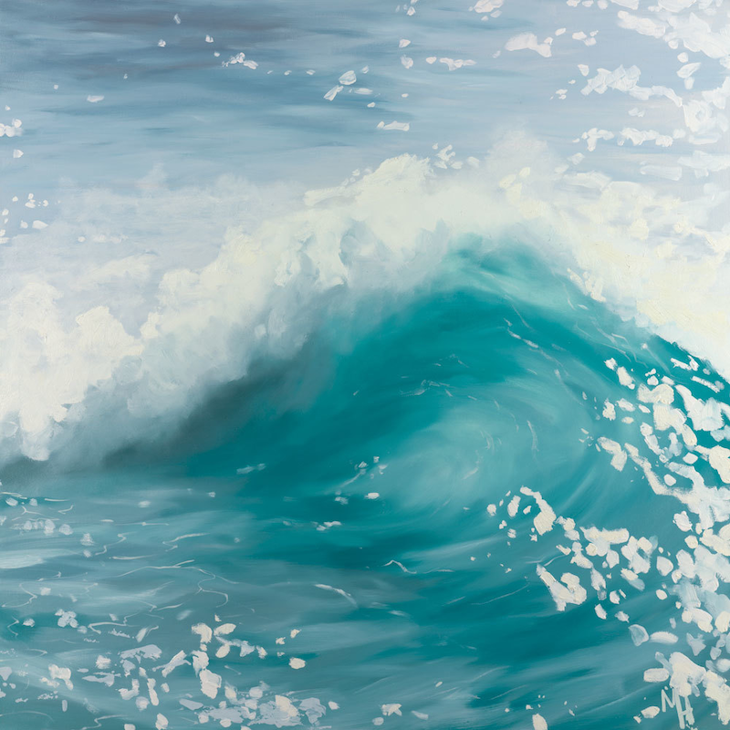 (CreativeWork) The Wave 5 by Meredith Howse. Oil Paint. Shop online at Bluethumb.