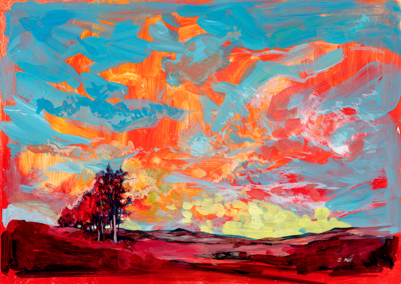 (CreativeWork) RED EARTH AND BLUE SKY - LIMITED EDITION - 1 of 1 Only In This Size - 23cm x 32cm -  FREE NEXT DAY COURIER DISPATCH Ed. 1 of 1 by Scott Neil. Print. Shop online at Bluethumb.