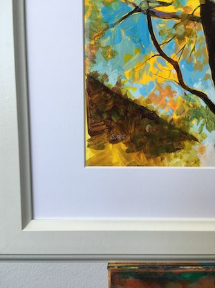 (CreativeWork) Golden Canopy in Changing Seasons. Rockford Wines Estate, Barossa, South Australia.       Highly Commended Third Place Prize Best in Show at the 2019 Lions Club Extravaganza Art Exhibition Ed. 1 of 50 by Scott Neil. Print. Shop online at Bluethumb.