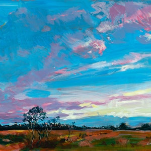 (CreativeWork) Sunrise Over a Queensland Farmland - LIMITED EDITION 1 of 1 Only In This Size - 23cm x 32cm - NEXT DAY  FREE COURIER DISPATCH Ed. 1 of 1 by Scott Neil. print. Shop online at Bluethumb.