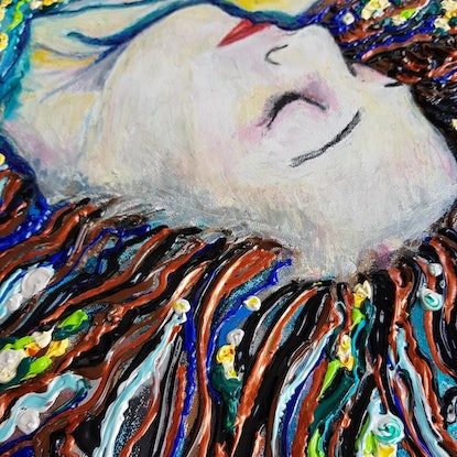 (CreativeWork) Sea star dreaming she is a woman by Tea Ercoles. Mixed Media. Shop online at Bluethumb.
