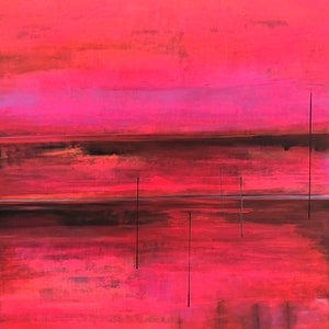 (CreativeWork) Burnt Sunset by Tracey Berthold. mixed-media. Shop online at Bluethumb.