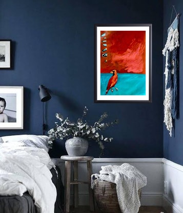 (CreativeWork) Little Bird after Rothko by Lee Wilde. Acrylic Paint. Shop online at Bluethumb.
