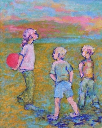 (CreativeWork)    NEGOTIATING by Chris Rowe. Acrylic Paint. Shop online at Bluethumb.