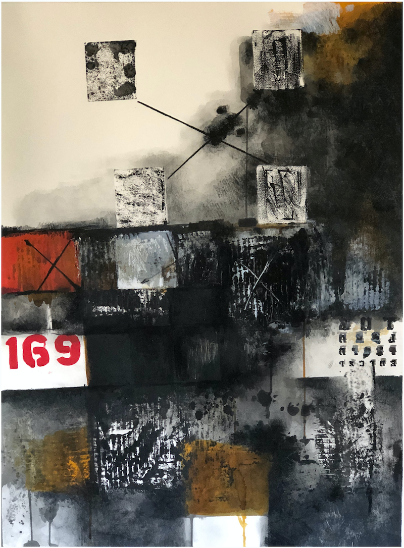 (CreativeWork) COMPOSITION NO. 191 [ 1 6 9 ] - 2018 by G Kustom Kuhl. Mixed Media. Shop online at Bluethumb.