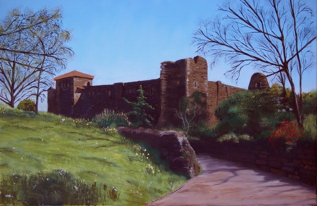 (CreativeWork) COLCHESTER CASTLE       UK by Basil Mitchell. Oil Paint. Shop online at Bluethumb.