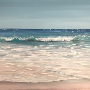 (CreativeWork) Gentle Breeze  by Ann Steer. arcylic-painting. Shop online at Bluethumb.