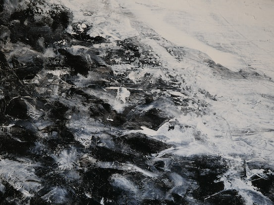 (CreativeWork) Boulders in winter - 2018 by Fredrick Alexander Wales. Acrylic Paint. Shop online at Bluethumb.