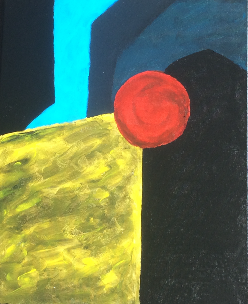 (CreativeWork) lamppost by Nabil Abdi. Acrylic Paint. Shop online at Bluethumb.