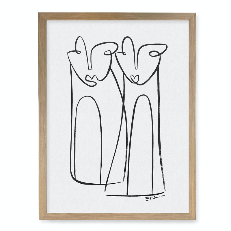 (CreativeWork) Side by Side A3 Timber Frame by Angus Martin. Drawings. Shop online at Bluethumb.