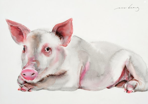 (CreativeWork) Prosperity Pig (SOLD) by Soo Beng Lim. Drawings. Shop online at Bluethumb.