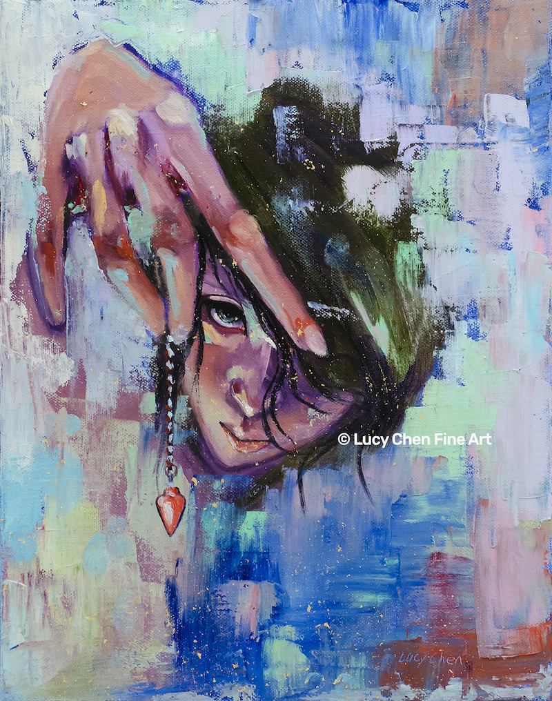 (CreativeWork) Get In Touch with Your Intuition by Lucy Chen. Oil Paint. Shop online at Bluethumb.