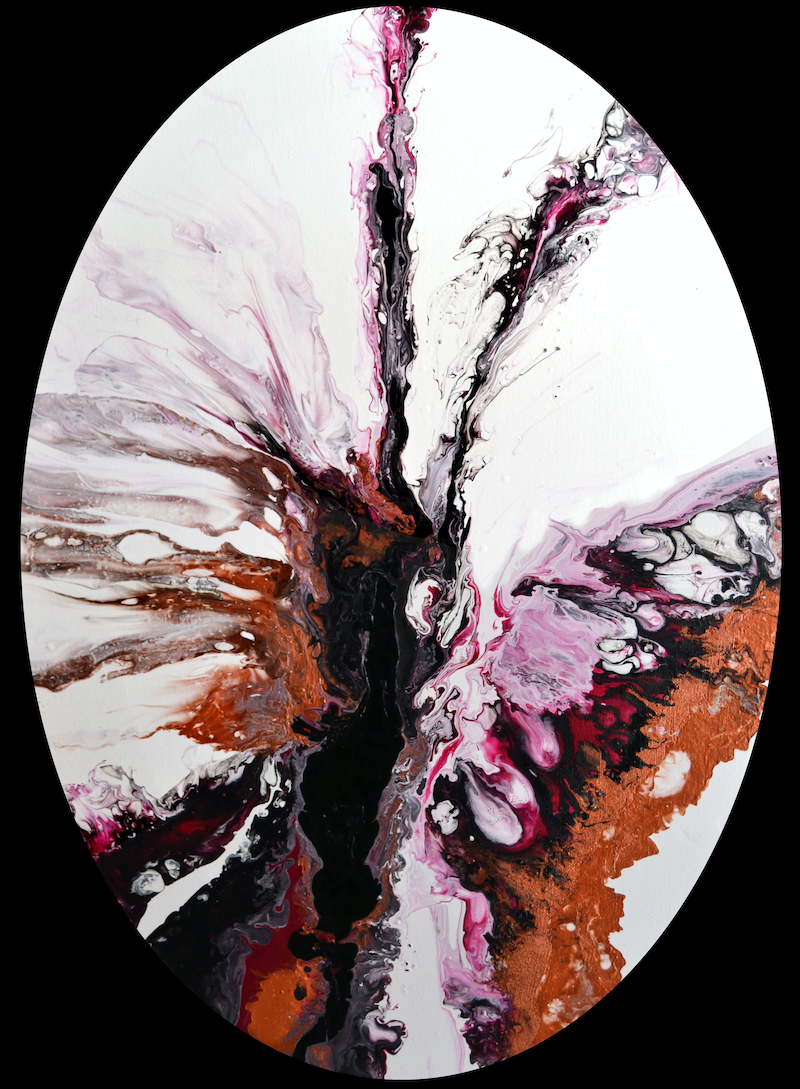 (CreativeWork) Unfurling Butterfly by Brigitte Ackland. Acrylic Paint. Shop online at Bluethumb.