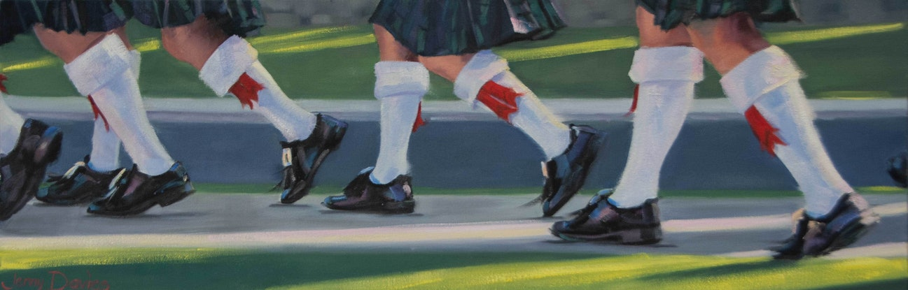"""(CreativeWork) """"Shiny Shoes"""" by Jenny Davies. Oil Paint. Shop online at Bluethumb."""