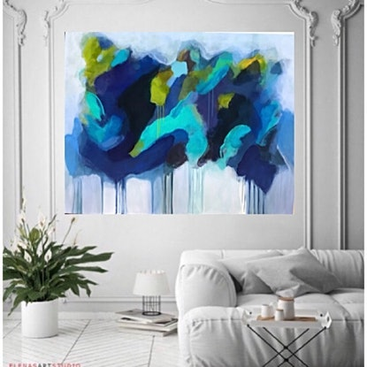 (CreativeWork) Silent Solitude by Tracey Berthold. Acrylic Paint. Shop online at Bluethumb.