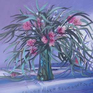 (CreativeWork) Dancing Gum Tips by Jo Taylor. oil-painting. Shop online at Bluethumb.