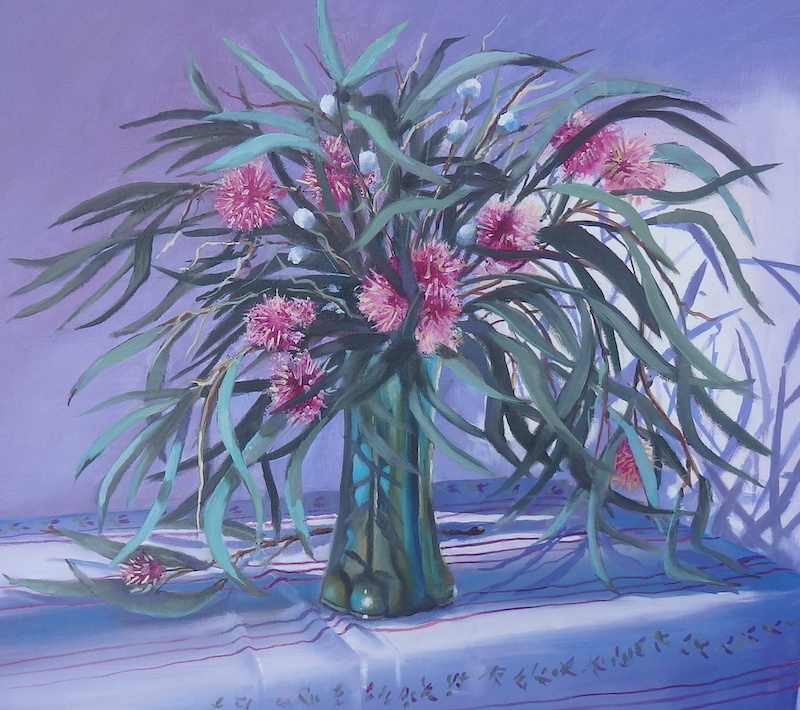 (CreativeWork) Dancing Gum Tips by Jo Taylor. Oil Paint. Shop online at Bluethumb.