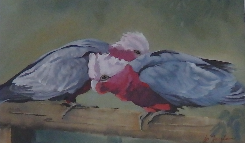 (CreativeWork) Mates by Jo Taylor. Oil Paint. Shop online at Bluethumb.