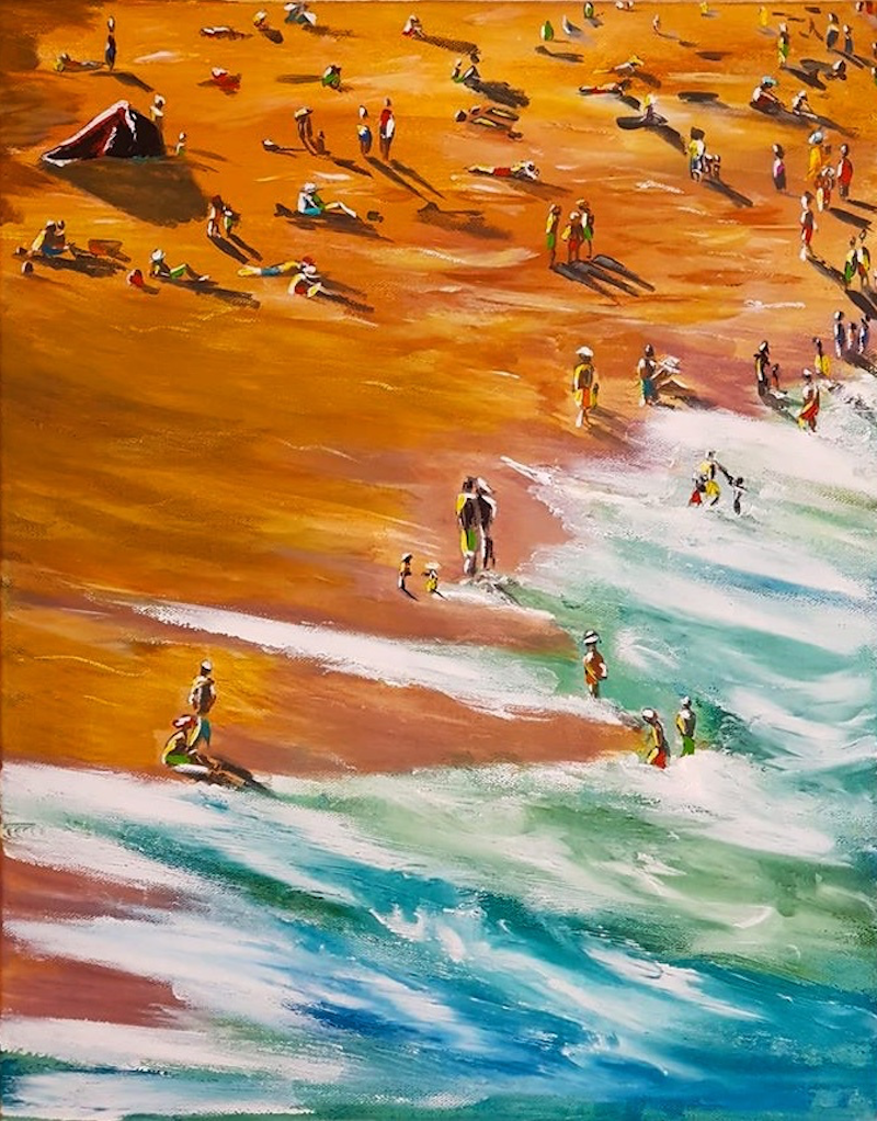 (CreativeWork) ALMOST TIME TO GO HOME by Leigh Elks. Acrylic Paint. Shop online at Bluethumb.
