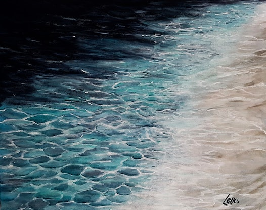 (CreativeWork) CRYSTAL CLEAR WATER by Leigh Elks. Acrylic Paint. Shop online at Bluethumb.