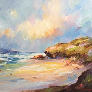 (CreativeWork) Bright day at Sorrento Back  beach by Liliana Gigovic. oil-painting. Shop online at Bluethumb.