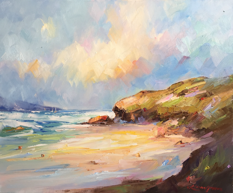 (CreativeWork) Bright day at Sorrento Back  beach by Liliana Gigovic. Oil Paint. Shop online at Bluethumb.