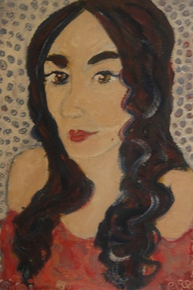 "(CreativeWork)  '""Mimi"" (159 of 230) by elij foote. Oil Paint. Shop online at Bluethumb."