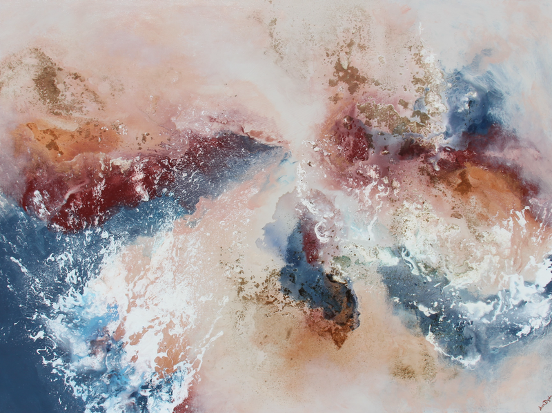 (CreativeWork) Sea Gorge  by Sue Dyde. Mixed Media. Shop online at Bluethumb.