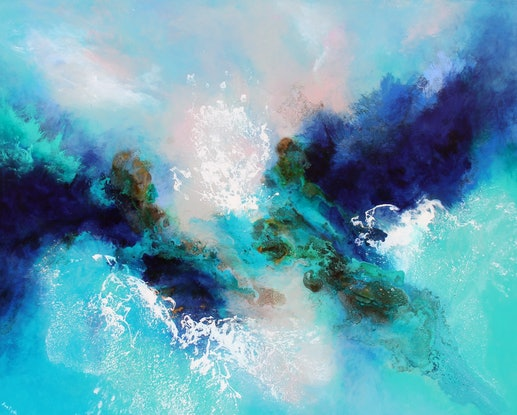 (CreativeWork) Edge of reason  by Sue Dyde. Mixed Media. Shop online at Bluethumb.
