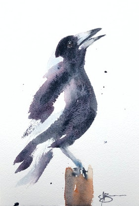 (CreativeWork) Maggie by Jenny Barnes. Watercolour Paint. Shop online at Bluethumb.