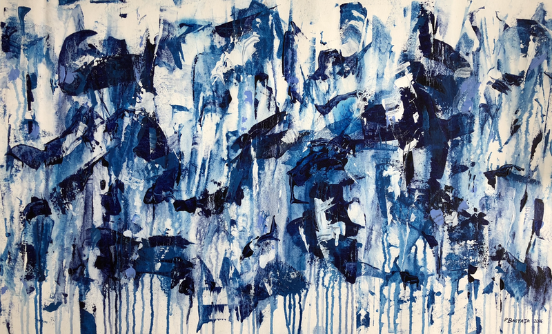 (CreativeWork) Blue Moments by Peter Bastaja. Acrylic Paint. Shop online at Bluethumb.
